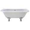 Bayswater Courtnell 1700mm Double Ended Back-To-Wall Freestanding Bath profile small image view 1