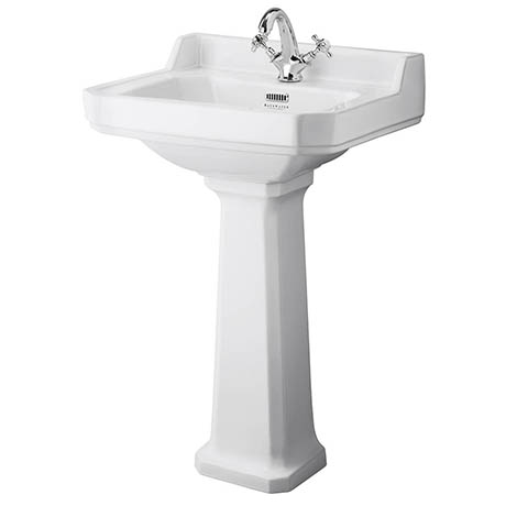 Bayswater Fitzroy Traditional 1TH Basin & Full Pedestal