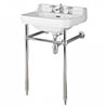Bayswater Fitzroy 560mm 3TH Basin & Chrome Wash Stand profile small image view 1