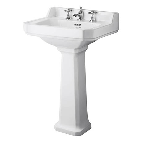 Bayswater Fitzroy Traditional 3TH Basin & Full Pedestal