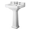 Bayswater Fitzroy Traditional 3TH Basin & Full Pedestal profile small image view 1
