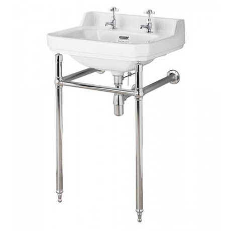 Bayswater Fitzroy 2TH Basin & Chrome Wash Stand