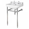 Bayswater Fitzroy 2TH Basin & Chrome Wash Stand profile small image view 1