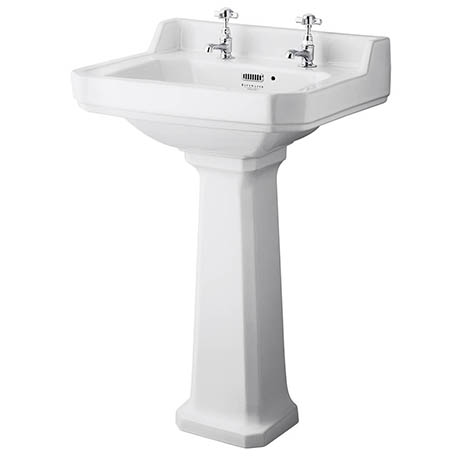 Bayswater Fitzroy Traditional 2TH Basin & Full Pedestal