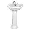 Bayswater Porchester Traditional 1TH Basin & Full Pedestal profile small image view 1