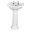 Bayswater Porchester Traditional 2TH Basin & Full Pedestal profile small image view 1