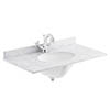 Bayswater 600mm 1TH White Marble Single Bowl Basin Top profile small image view 1