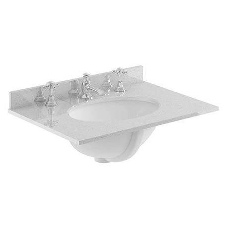 Bayswater 600mm 3TH Grey Marble Single Bowl Basin Top