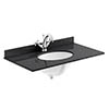 Bayswater 800mm 1TH Black Marble Single Bowl Basin Top Small Image
