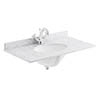 Bayswater 800mm 1TH White Marble Single Bowl Basin Top profile small image view 1