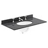 Bayswater 800mm 3TH Black Marble Single Bowl Basin Top profile small image view 1