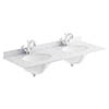 Bayswater 1200mm 1TH White Marble Double Bowl Basin Top profile small image view 1