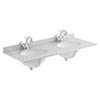 Bayswater 1200mm 1TH Grey Marble Double Bowl Basin Top profile small image view 1