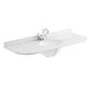Bayswater 1200mm 1TH Curved White Marble Single Bowl Basin Top profile small image view 1