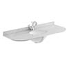 Bayswater 1200mm 1TH Curved Grey Marble Single Bowl Basin Top profile small image view 1