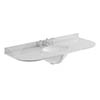 Bayswater 1200mm 3TH Curved Grey Marble Single Bowl Basin Top profile small image view 1