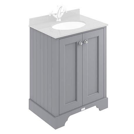 Bayswater Plummett Grey 600mm 2 Door Basin Cabinet Only