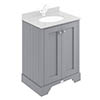 Bayswater Plummett Grey 600mm 2 Door Basin Cabinet Only profile small image view 1
