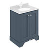 Bayswater Stiffkey Blue 600mm 2 Door Basin Cabinet Only profile small image view 1