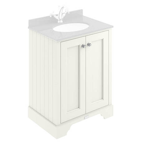 Bayswater Pointing White 600mm 2 Door Basin Cabinet Only