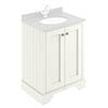 Bayswater Pointing White 600mm 2 Door Basin Cabinet Only profile small image view 1
