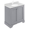 Bayswater Plummett Grey 800mm 2 Door Basin Cabinet Only profile small image view 1