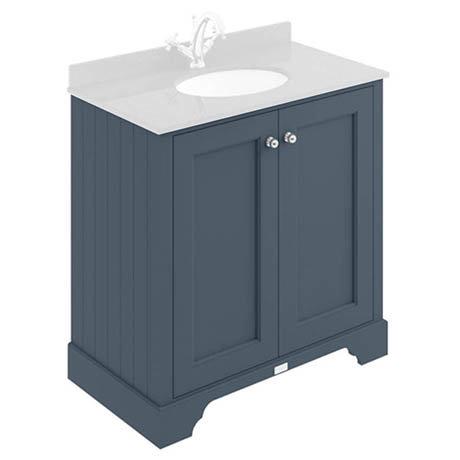 Bayswater Stiffkey Blue 800mm 2 Door Basin Cabinet Only