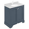 Bayswater Stiffkey Blue 800mm 2 Door Basin Cabinet Only profile small image view 1