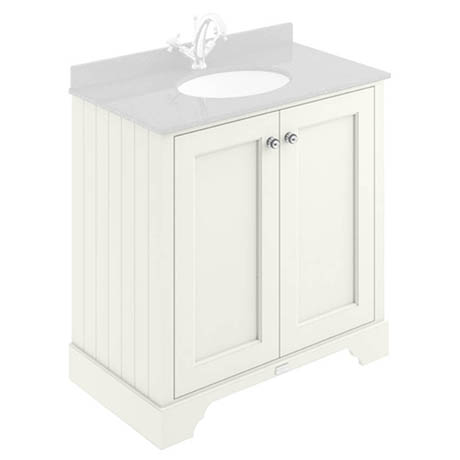 Bayswater Pointing White 800mm 2 Door Basin Cabinet Only