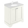 Bayswater Pointing White 800mm 2 Door Basin Cabinet Only profile small image view 1