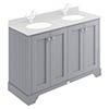 Bayswater Plummett Grey 1200mm 4 Door Basin Cabinet Only profile small image view 1