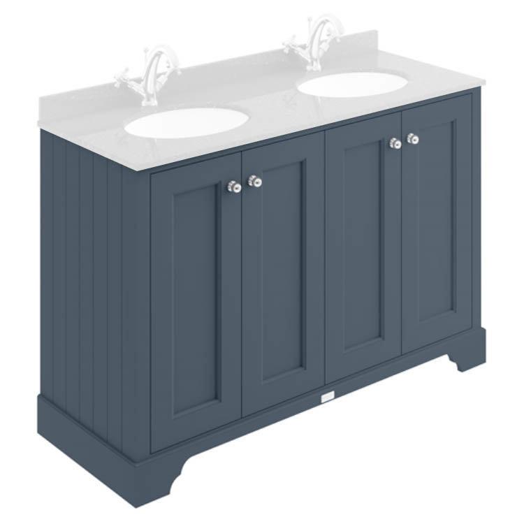 Bayswater Stiffkey Blue 1200mm 4 Door Basin Cabinet Only