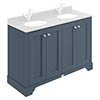 Bayswater Stiffkey Blue 1200mm 4 Door Basin Cabinet Only profile small image view 1