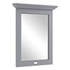 Bayswater Plummett Grey 600mm Flat Mirror Medium Image