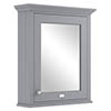 Bayswater Plummett Grey 600mm Mirror Wall Cabinet Medium Image