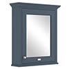 Bayswater Stiffkey Blue 600mm Mirror Wall Cabinet Medium Image