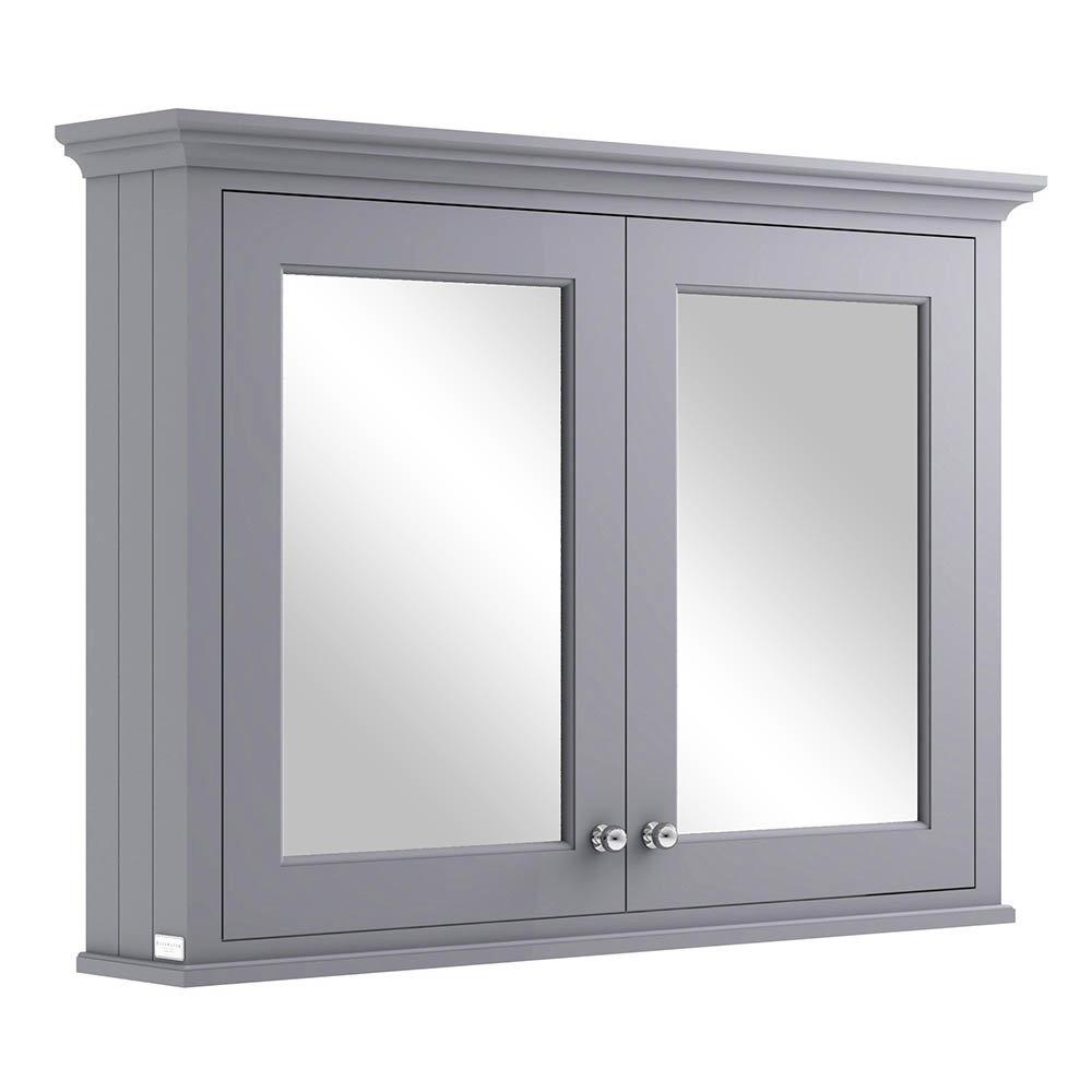 Bayswater Plummett Grey 1050mm Mirror Wall Cabinet