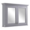 Bayswater Plummett Grey 1050mm Mirror Wall Cabinet Medium Image