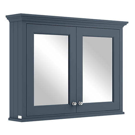 Bayswater Stiffkey Blue 1050mm Mirror Wall Cabinet
