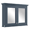 Bayswater Stiffkey Blue 1050mm Mirror Wall Cabinet Medium Image
