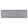 Bayswater Plummett Grey 1700mm Front Bath Panel profile small image view 1