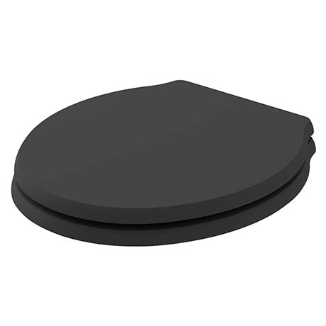 Bayswater Matt Black Porchester Soft Close Toilet Seat