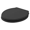 Bayswater Matt Black Porchester Soft Close Toilet Seat profile small image view 1