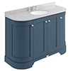 Bayswater Stiffkey Blue Curved 1200mm 4-Door Vanity Unit & 3TH Grey Marble Single Bowl Basin Top profile small image view 1