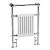 Bayswater Clifford Heated Towel Rail Radiator 965 x 673mm profile small image view 1