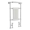 Bayswater Clifford Heated Towel Rail Radiator 965 x 540mm profile small image view 1