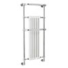 Bayswater Franklyn Wall Hung Heated Towel Rail Radiator 1362 x 575mm profile small image view 1