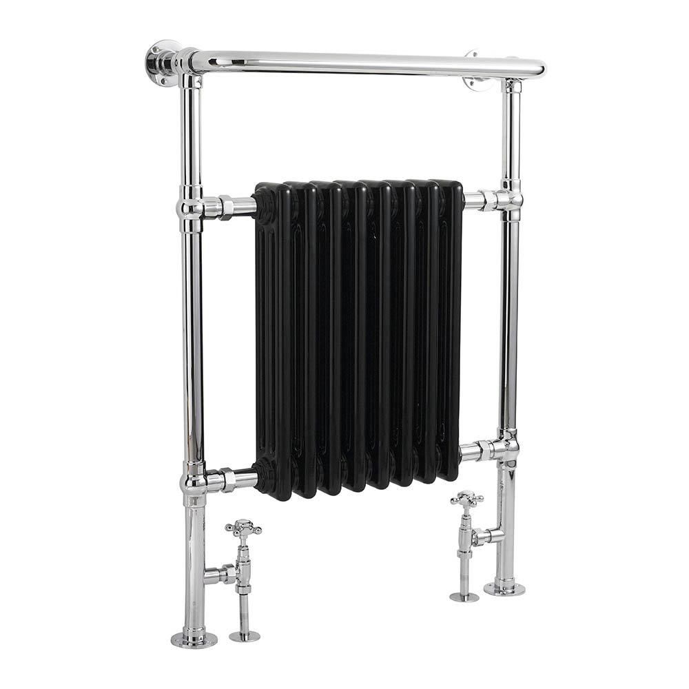 Bayswater Clifford Black Heated Towel Rail Radiator 965 x 673mm