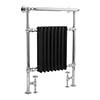 Bayswater Clifford Black Heated Towel Rail Radiator 965 x 673mm profile small image view 1