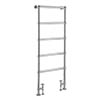 Bayswater Juliet Floor Mounted Heated Towel Rail 1549 x 598mm profile small image view 1